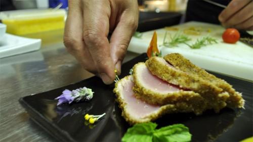 presentazione piatto, ristorante Paestum